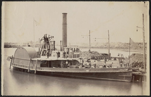 Government boat wharf, Alexandria, Virginia, steamer