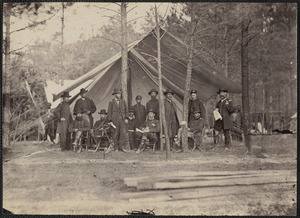 General Grant and Staff (about 1864) in Virginia