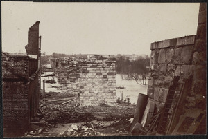 Ruins of Petersburg and Richmond railroad bridge