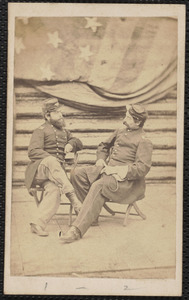 22nd [Massachusetts Infantry] Major M. [Mason] W. Burt, Lieutenant F. [Frederick] S. Benson