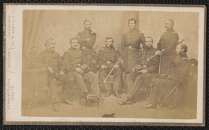 24th, Chaplin, Adjutant Anderson, Lieutenant Colonel Osborne, Colonel Stevenson, Major Stevenson, Surgeon Green, Quartermaster [?] Heutch[illegible], Curtis[?]