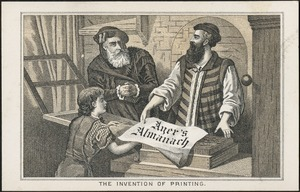 Ayer's Almanach - the invention of printing.