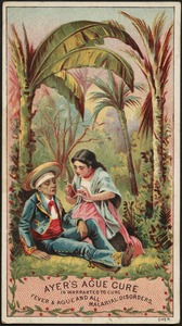 Ayer's Ague Cure is warranted to cure fever & ague and all malarial disorders