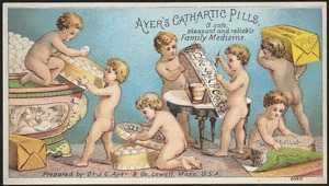 Ayer's Cathartic Pills, a safe pleasant and reliable family medicine.