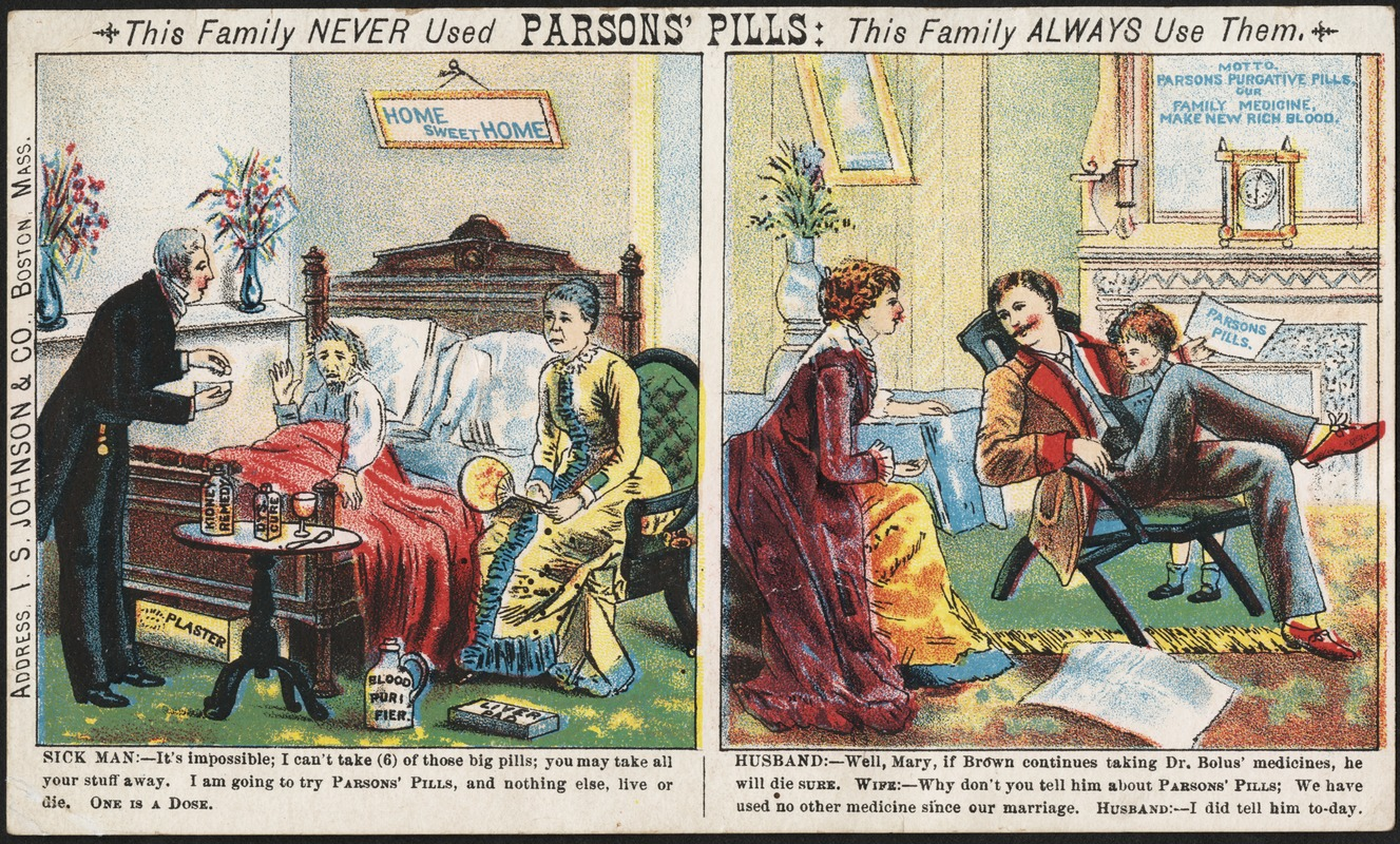 This family never used Parsons' Pills: This family always use them.