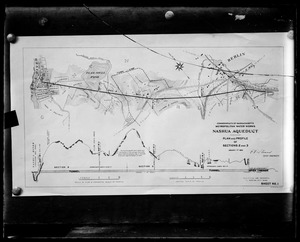 Wachusett Aqueduct, plan and profile of Sections 2 and 3, Berlin, Mass., Jan. 1, 1896