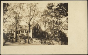 Ashdale Farm. Photo Postcard of front of Main House, view from right.