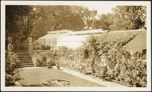 Ashdale Farm. Rose garden; green house
