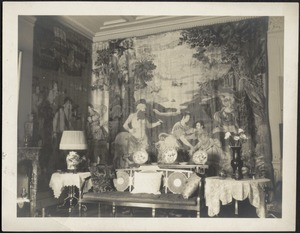 Interior — Sitting room with tapestries
