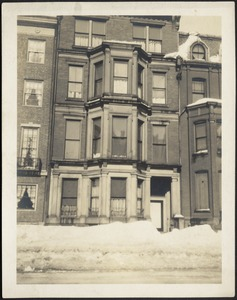 Exterior— front of townhouse in winter