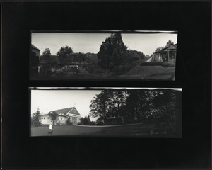 Ashdale Farm. Two panoramic views of the house and barn.