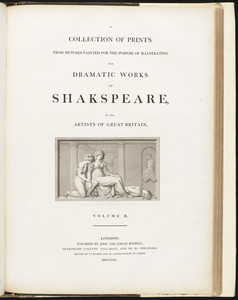 """Title page for volume II of """"A collection of prints, from pictures painted for the purpose of illustrating the dramatic works of Shakspeare"""""""