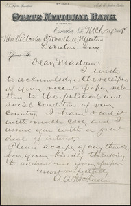 Victoria Woodhull Martin Papers, 1883-1927