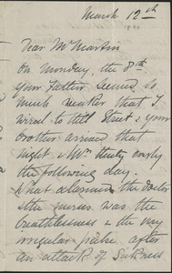 Autograph letter signed to [John Biddulph] Martin, March 12, [1897?]