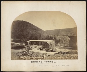 Hoosac Tunnel.  View of machine shop--east end