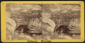 West portal (of natural bridge) showing archway and gent on slope