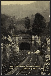 Western portal, Hoosac Tunnel, North Adams, Mass.