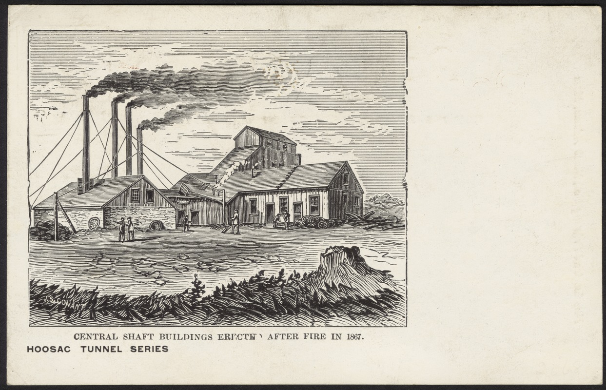 Central shaft buildings erected after fire in 1867.
