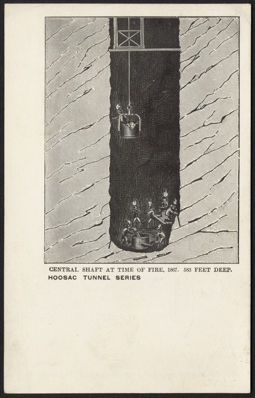 Central shaft at the time of fire, 1867, 583 feet deep