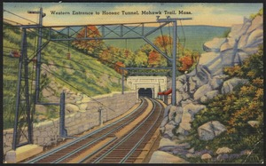 Western entrance to Hoosac Tunnel, Mohawk Trail, Mass.