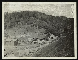 Hoosac Tunnel, its surroundings, workers, and machinery