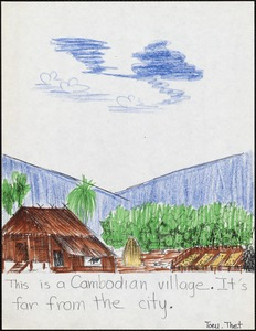 This is a Cambodian village