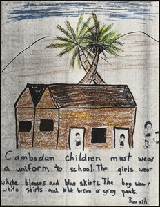 Cambodian children must wear a uniform to school