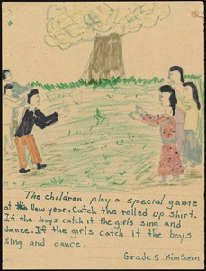The children play a special game at New Year