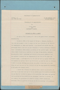 Affidavit of John F. Carney and newspaper clippings