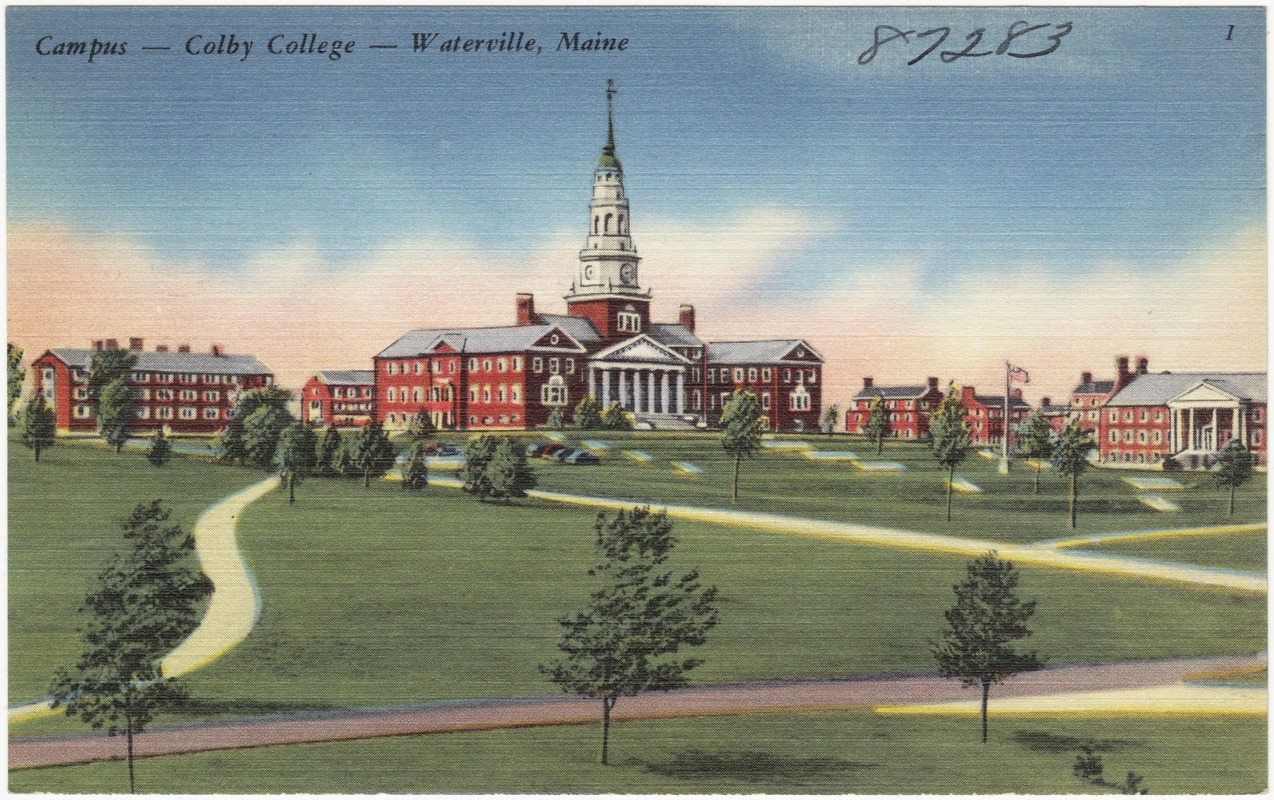 Campus Colby College Waterville Maine Digital Commonwealth