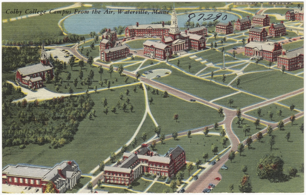 Colby College Campus From The Air Waterville Maine Digital