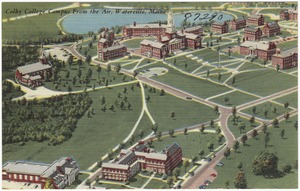 Colby College Campus from the air, Waterville, Maine