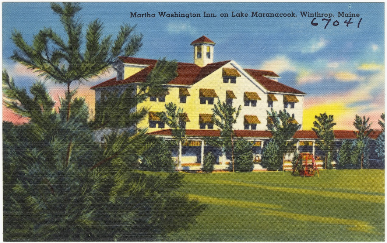 Martha Washington Inn, on Lake Maranacook, Winthrop, Maine