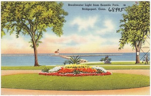 Breakwater Light from Seaside Park, Bridgeport, Conn.