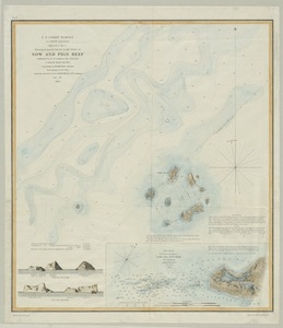 Sketch A No. 5 showing proposed site for a light house on Sow and Pigs Reef