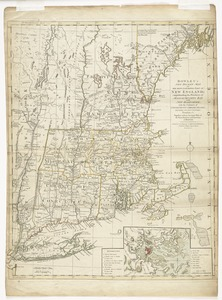 Bowles's new pocket map of the most inhabited part of New England