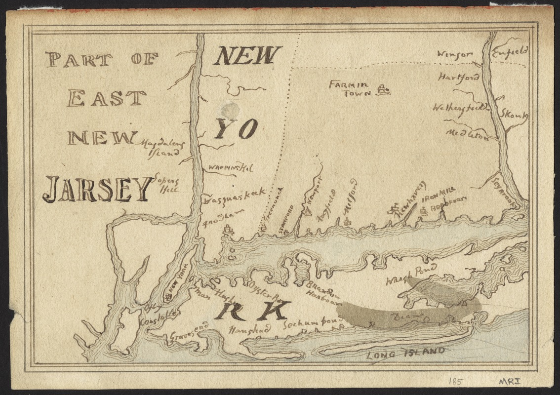 Part of east New Jarsey, New York, and Connecticut