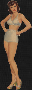 Ava Gardner paper doll with hands on hips