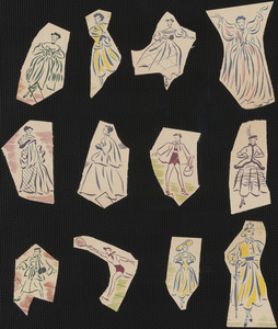 Paper cutouts from the Ava Gardner paper doll books