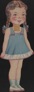 Paper doll of young girl with braids