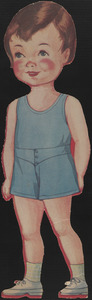 Paper doll of child with short hair