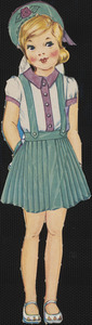 Barbara paper doll in outfits