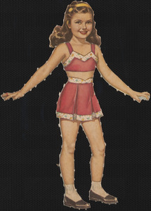 Candy paper doll