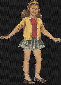Candy paper doll in outfits