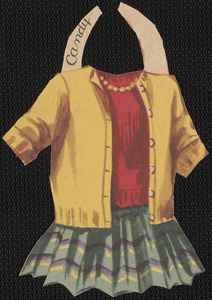 Candy paper doll clothing