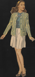 Cathie paper doll in outfits