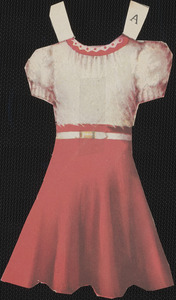 Anna paper doll clothing