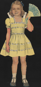 Bess paper doll in outfits