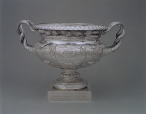 Presentation vase in silver honoring Daniel Webster