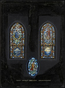 Christ Church, Hamilton, Massachusetts. Aisle window.